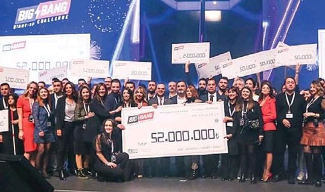 Big Bang'te girişimcilere 52 milyon TL dağıtıldı