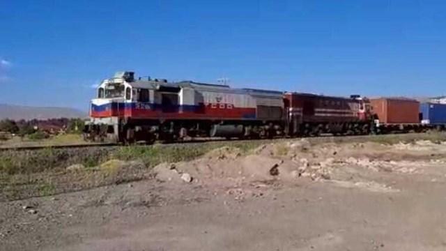 Çin den yola çıkan 1056 metrelik blok tren Türkiye ye ulaştı