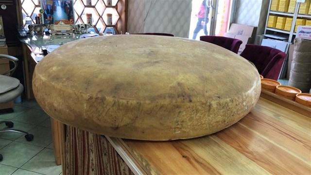 2,5 ton sütten dev gravyer peyniri şaşırttı