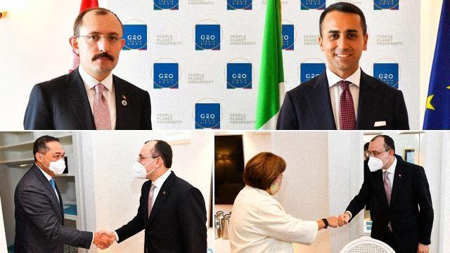 Bakan Muş, G20 toplantısı öncesinde ikili görüşmelerde bulundu
